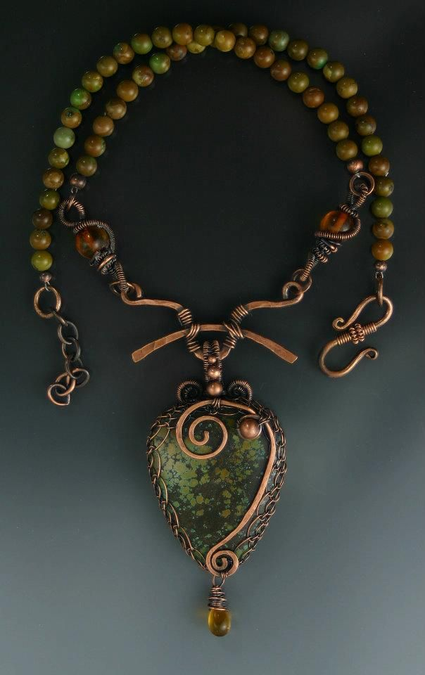 http://www.pinterest.com/joliesarts ∗  »☆Elysian-Interiors ♕Simply divine #jewelry ∗ artisan ∗ fashion ∗ Jewellery ~ Turquoise & Copper