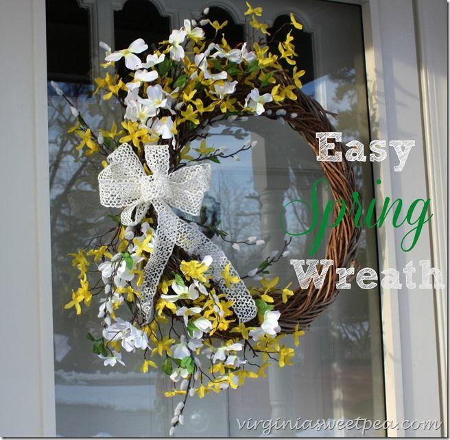 Easy Spring Wreath - virginiasweetpea.com