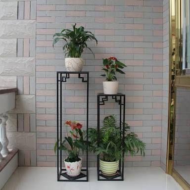 Resultado de imagen para macetas hierro forjado base - Pedestal para plantas ...
