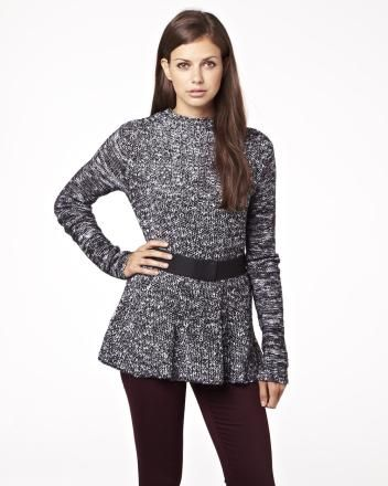 Peplum sweater with belt Fall 2013 Collection