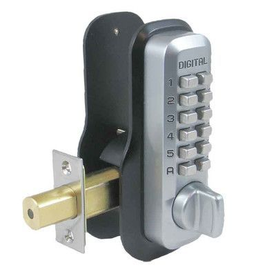 lockey usa single cylinder keyless electronic deadbolt finish satin chrome brass