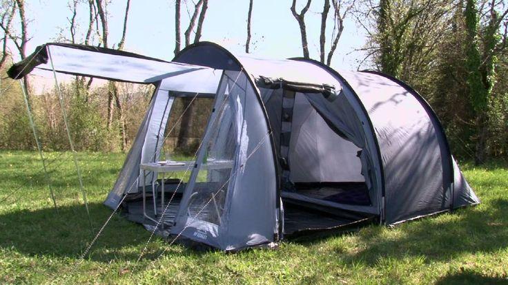 Tente familiale, aérée, lumineuse grâce à ses grandes fenêtres. Tente de camping 4 personnes.