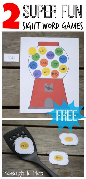 Awesome free literacy centers! 2 super fun sight word games.