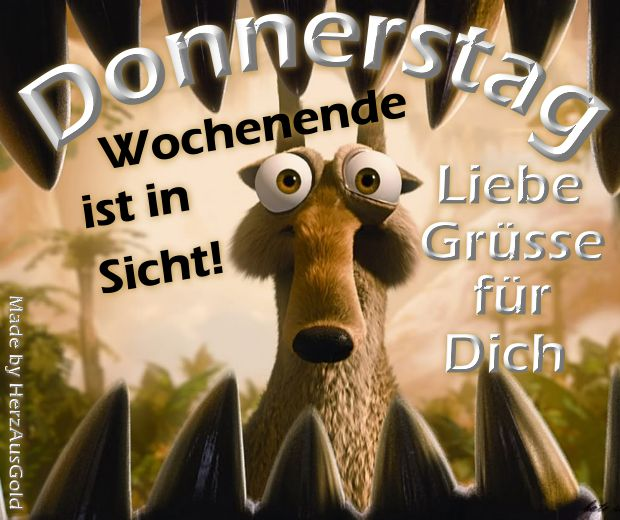 Donnerstag Bilder - Jappy GB Pics - Wochentage - ice-age-donnerstag.png