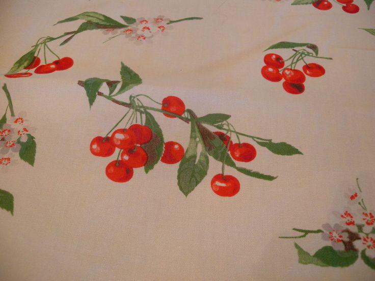 Vintage Wilendur Cherry Tablecloth By Madsen