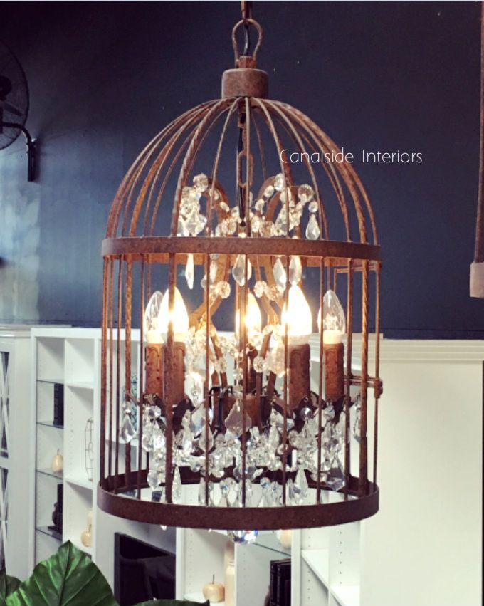 vintage birdcage chandelier ii small - Birdcage Chandelier