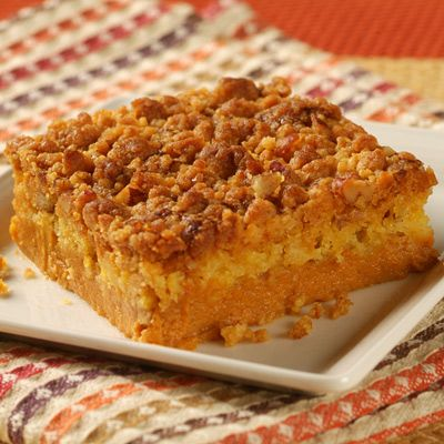 Libby's Easy Pumpkin Crumb Cake - Made this last night. Delicious! And so easy! Perfect for Thanksgiving for those who don't like pumpkin pie but love pumpkin.