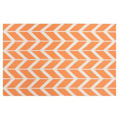 Haven Flat-Weave Rug, Papaya by One Kings Lane $289 #Olioboard #Product #Sales