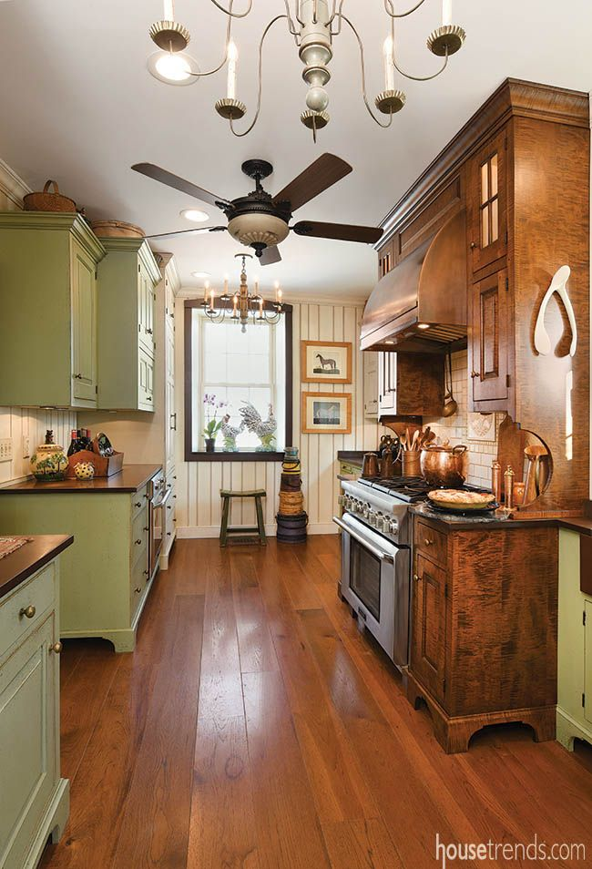 Wood flooring contributes to a historic design