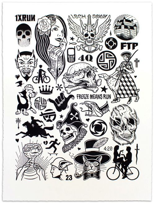"""Modern Hieroglyphics"" Art Print by Mike Giant"