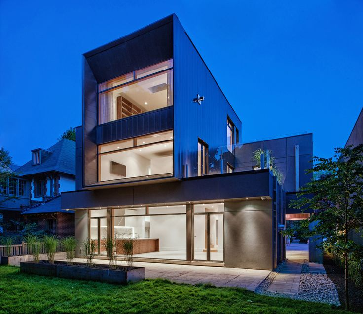 Steel Facade Gives Way to Glass in Modern Toronto Home - http://freshome.com/modern-home-toronto/