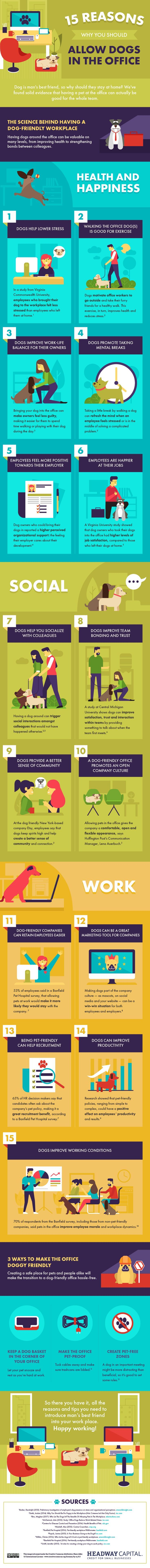 Yes -15 Reasons Why You Should Allow Dogs in the Office  #dogs #nostress