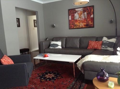 How To Use A Bordered Rug With Sectional Sofa Example