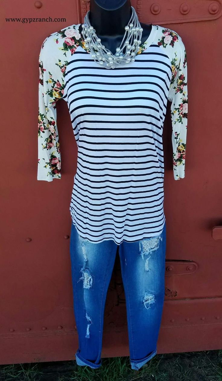 Sing the Dream Floral & Stripe Top