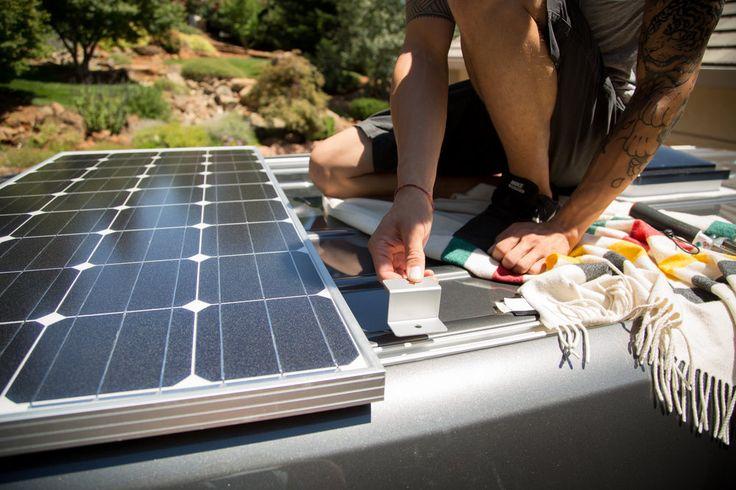 Solar panel install 2016 mercedes sprinter van