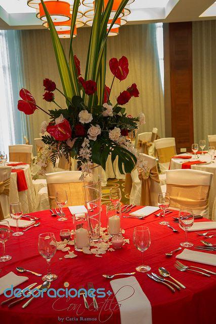 Las 25 mejores ideas sobre centros de mesa de color rojo for Decoracion en rojo y blanco