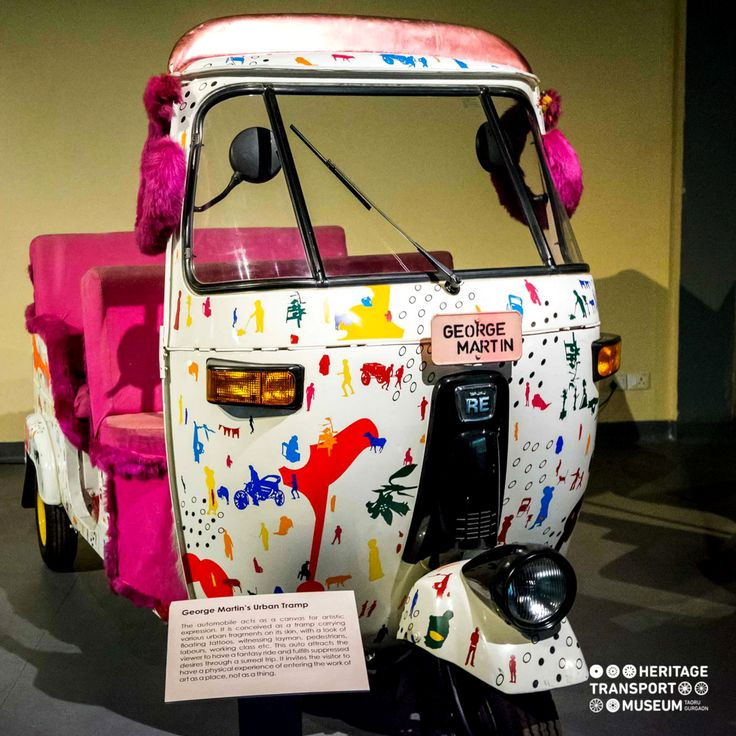 A three wheeler designed and decorated by George Martin!  #transportmuseum #art #contemporaryart #travel #incredibleindia