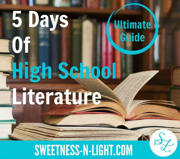 5 Days of High School Literature - Ultimate Pinterest Guide | Sweetness-n-Light via @cheremere #ihsnet #hopscotch