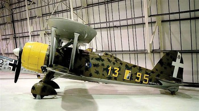 """The captured RAF Fiat Cr42 Falco, which Salvadori had crashed in Suffolk, is now displayed in its original markings at the RAF Museum in London. The RAF Museum website states: """"Mussolini brought Italy into the war in June 1940. Convinced of an Axis victory and not wishing to miss out on the spoils of war he ordered the Italian Air Force - Regia Aeronautica - to form an air expeditionary force, the Corpo Aereo Italiano/Italian Air Corps (CAI)"""