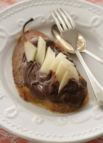 Chocolate and pear is a marriage made in heaven, especially on sweet, crunchy French toast.
