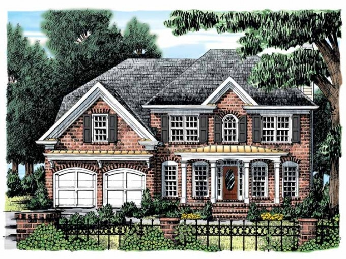 Love the metal roof accents against the brick exterior for Www eplans com house plans