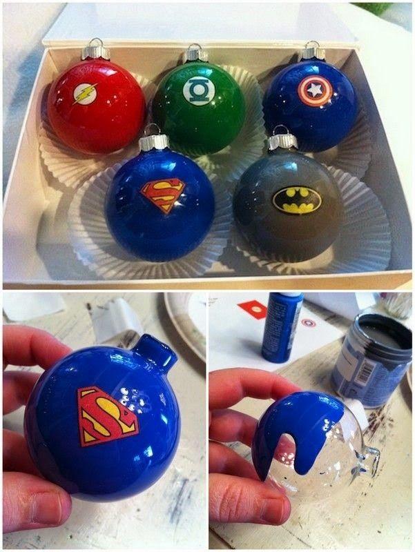 DIY Tuts ideas: Superhero Ornaments