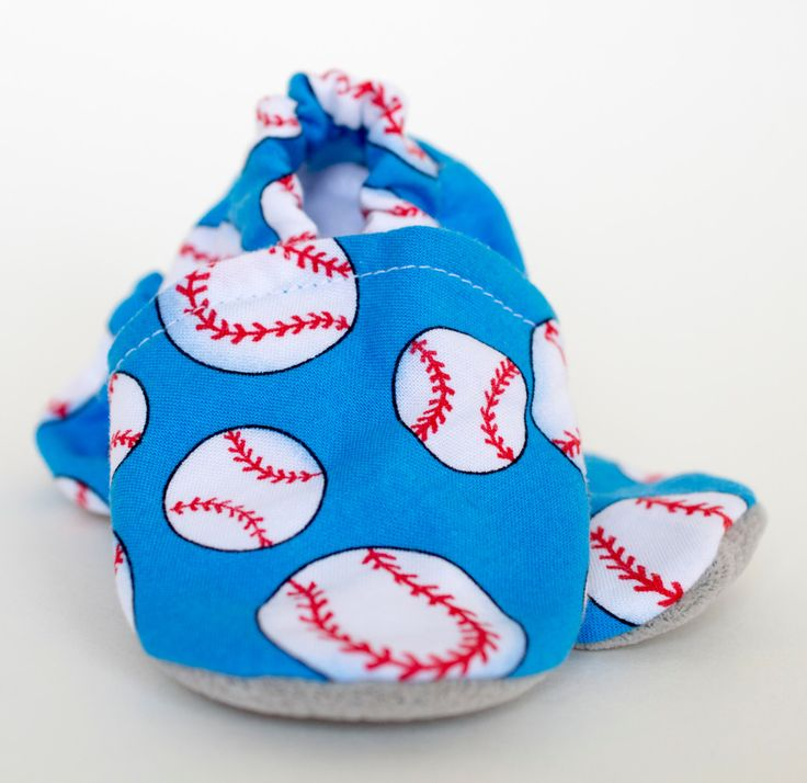 A personal favorite from my Etsy shop https://www.etsy.com/ca/listing/484132563/baby-booties-take-me-out-to-the-ballgame