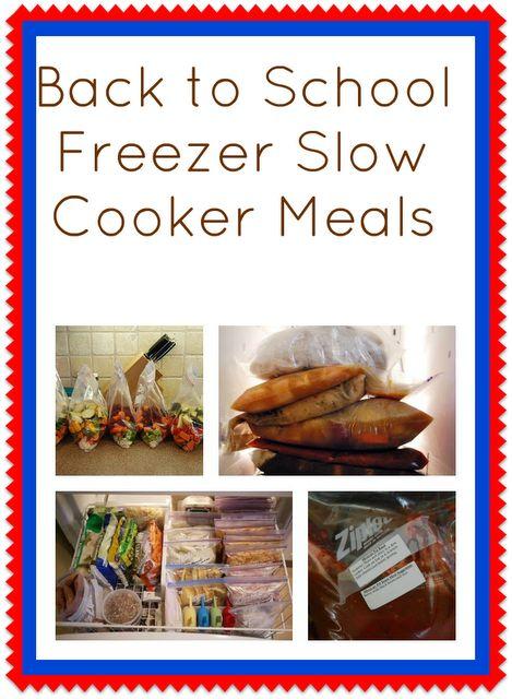 So many different frozen crock pot meals: Crock Pot, Cooker Meals, Freezer Meals, Crockpot, Slow Cooker, School Freezer, Back To School