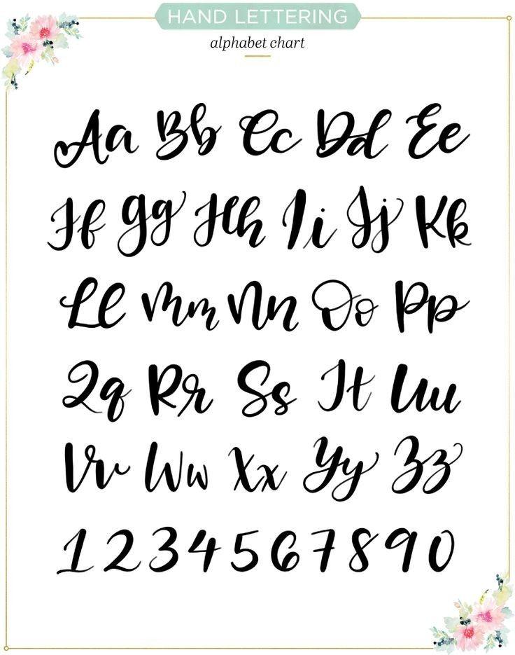 Handlettering Schriftarten Alphabet Schriftart Alphabet