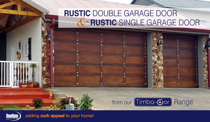 Afraid of the dramatic impact of the Gothic style? Why not opt for the deep brown Rustic Sectional Garage Doors which are one of our most popular doors in our Timba-dor™ Range. Finish it off with a matching house door and a d-force™ Automatic Overhead Garage Door Opener for that extra convenience and safety. www.doorzonesa.com