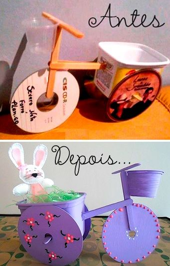 #Educação com arte e #sustentabilidade Fonte: http://www.pragentemiuda.org/2014/03/lembrancinha-de-pascoa-reciclada.html