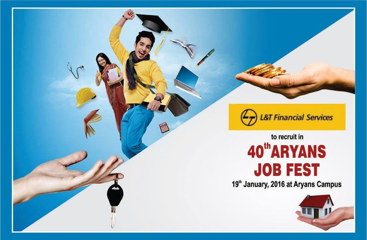 L&T Financial Services to recruit candidates in 40th Aryans Job Fest to be held on 19th January, 2017 at Aryans Group of Colleges, Chandigarh.  Free Registration at www.aryans.edu.in/job-fest.php  #LTFinancialServices #40thAryansJobFest #AryansGroupofColleges #SalesOfiicer #CollectionOfficer