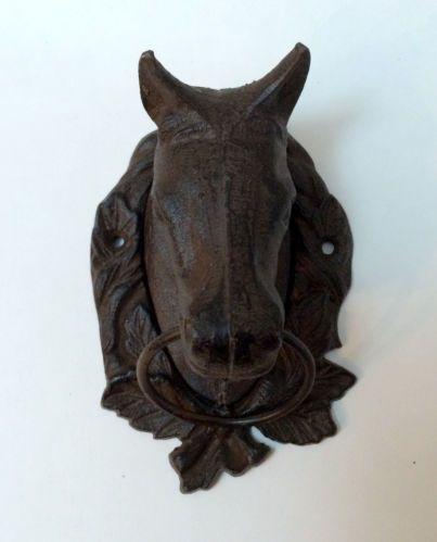 Vintage cast iron horse head door knocker ebay castiron horse door decor knocker cozy - Horse head door knocker ...