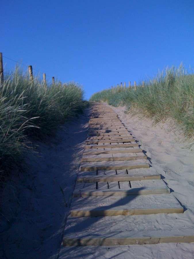 Strandopgang strand zuid Bergen aan Zee