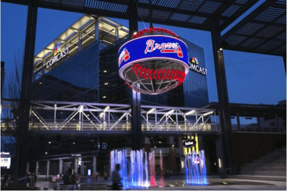 (Courtesy of NanoLumens)    At The Battery Atlanta, a brand new combined-use improvement that Atlanta Braves followers stroll by means of as they head into SunTrust Park, individuals now can't miss the brand new 7-foot tall curved LED show encompassing an enormous metallic baseball. It's one of...