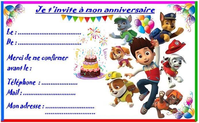 Anniversaire :  Etiquettes cadeaux et invitations PAT PATROUILLE pour les anniversaires des enfants http://nounoudunord.centerblog.net/4281-etiquettes-et-invitations-pat-patrouille-pour-anniversaire