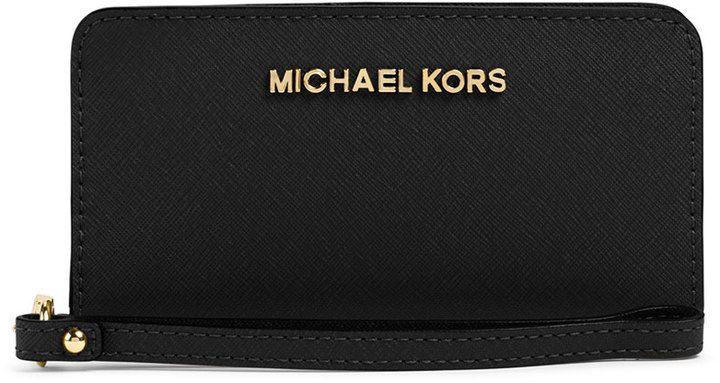 MICHAEL Michael Kors Slim Jet Set Tech Wristlet on shopstyle.com.au