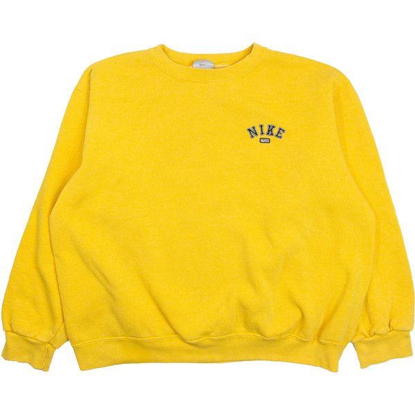 YELLOW NIKE SWEATSHIRT nike pullover Just Do It nike jumper