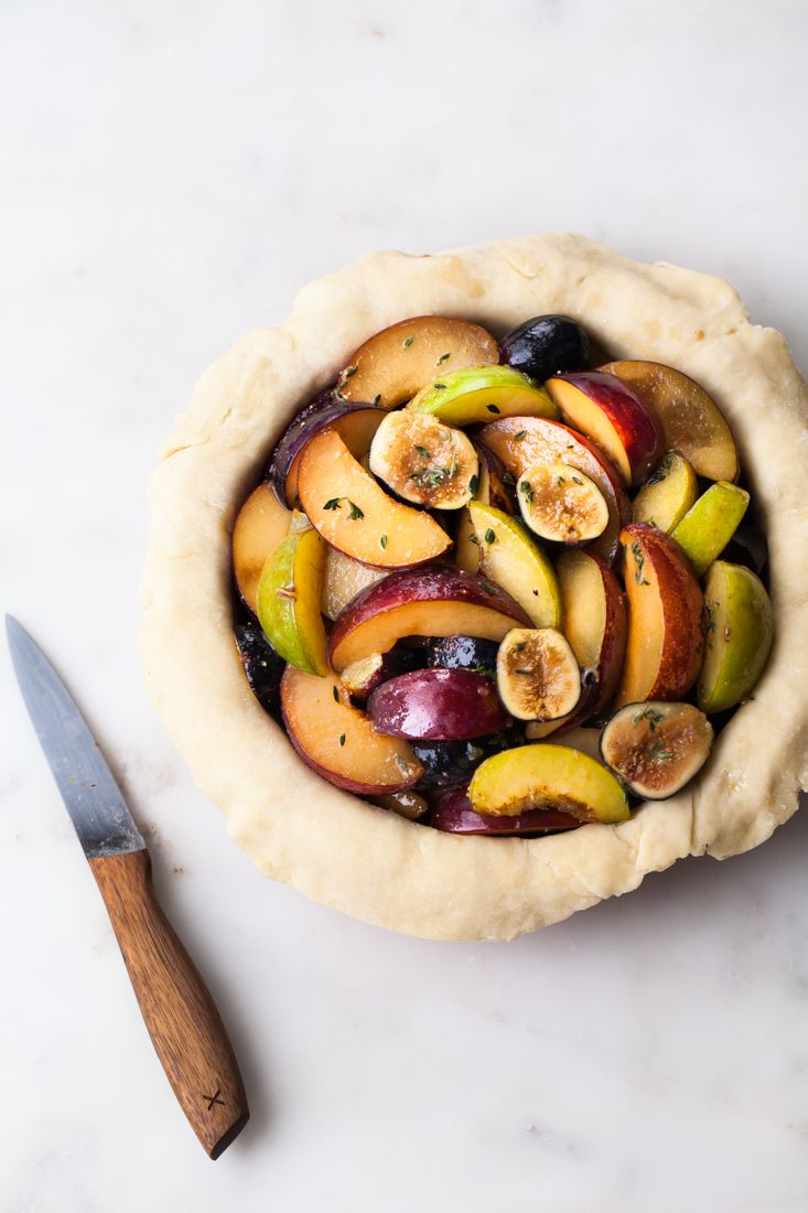 Fig Plum Pie with thyme and an all-butter crust                                                                                                                                                                                 More