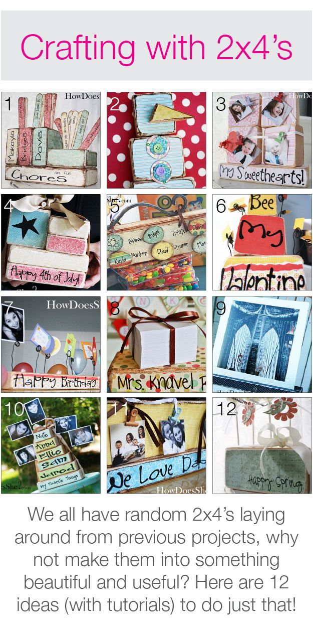 Crafting with 2x4's! 12 ideas (with tutorials)! #2x4crafts #howdoesshe