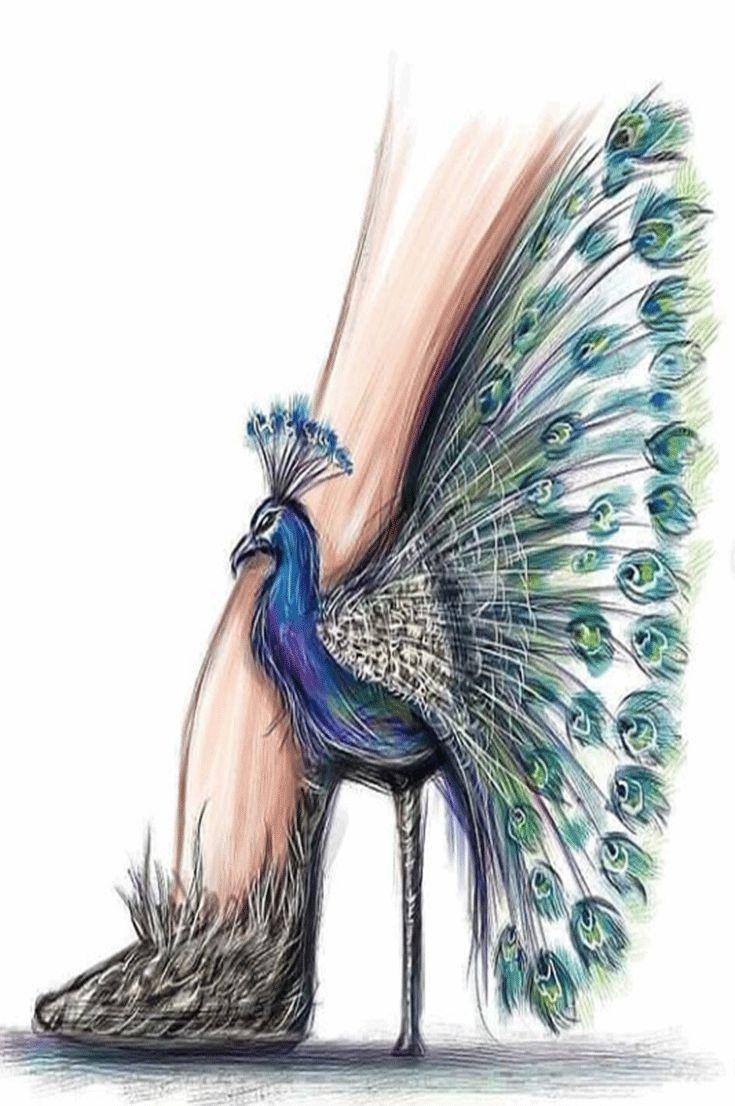 10 idéias de pintura # desenho #art # sapatos    – Kunst