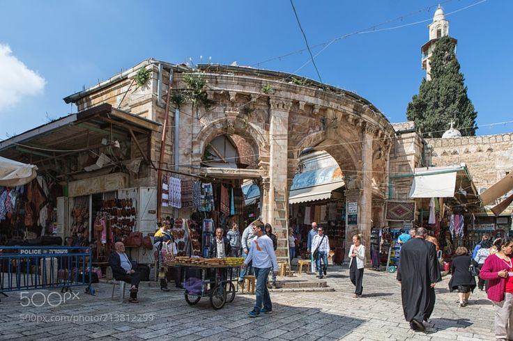 Aftimos souk. by jimbos from http://500px.com/photo/213812299 - It is a bustling complex near the Church of the Holy Sepulcher with colorful shops restaurants churches and various sites. Your limits are; Christian Street from the west David Street from the south Butchers Market from the east Painters Market from the north and Church of the Holy Sepulcher. In the image you can also see the Mosque of Omer.  The Roman Forum which was a huge courtyard that served as an urban market used to be in…