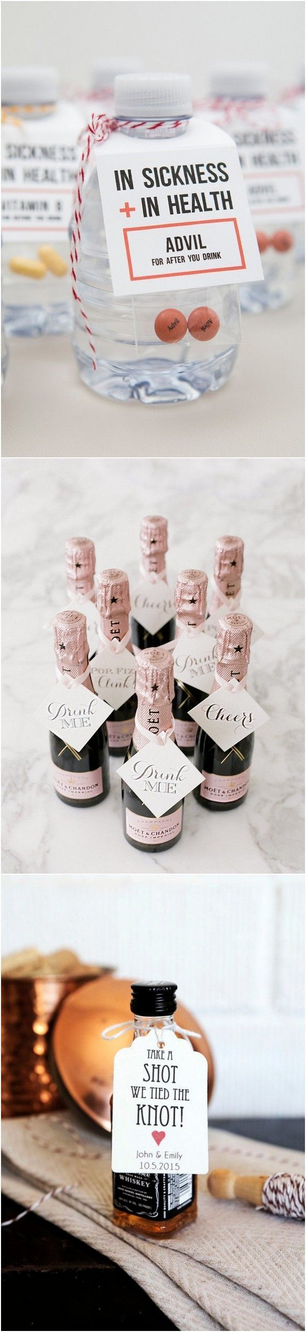 Cute, fun and unique alternative wedding favor ideas! These would be the perfect thing to put in your destination wedding welcome bags!