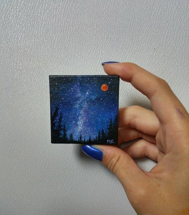 Tiny galaxy paintings