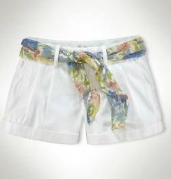Ralph Lauren Polo Womens Short Blanco