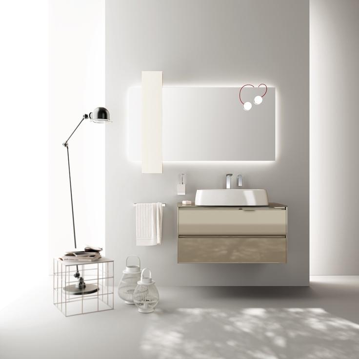#kylpyhuone #scavolini #decorkylpyhuoneet #kylpyhuonekalusteet #sisustus  Rivo kylpyhuonekaluste Scavolini Rivo by Scavolini #Bathrooms | A #creative project that furnishes #comfort |