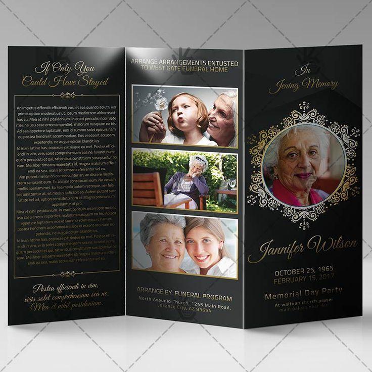 tri fold funeral program template free
