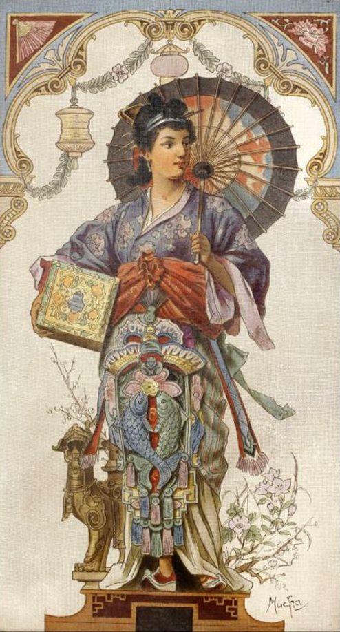 China by Alphonse Mucha