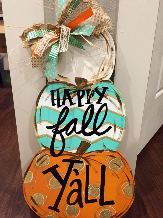 Pumpkin Stack Door Hanger by OurHouseofHudson on Etsy
