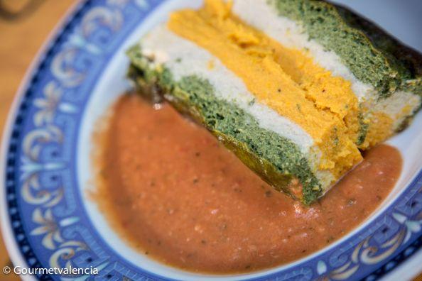 Pastel de verduras del restaurante vegetariano La Lluna en Valencia